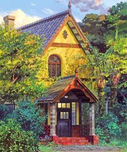 studio-ghibli-house-paint-by-number