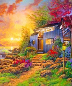 sunny-morning-kinkade-paint-by-numbers