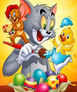 Tom And Jerry Cartoon Paint by numbers