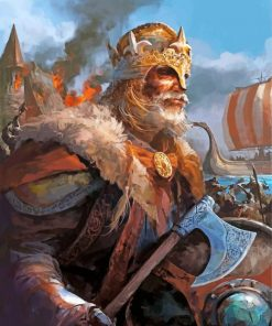 Viking Warrior King Paint by numbers