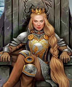 Warrior Queen Art paint by numbers