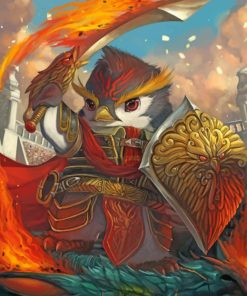warrior-bird-paint-by-numbers