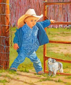 western-boy-paint-by-number