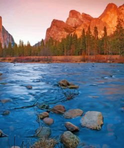 yosemite national park paint by number