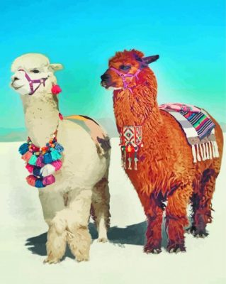 Aesthetic Llamas Paint by numbers