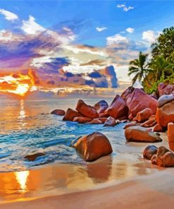 Aesthetic Seychelles Sea Paint by numbers