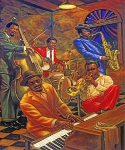 African Musicians Paint by numbers