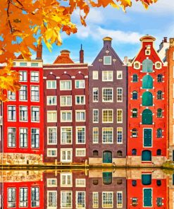 Amsterdam Buildings Paint by numbers