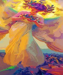 Angel-of-birds-by-Dvorak-paint-by-numbers