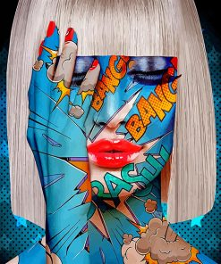 Bang Girl Pop Art Paint by numbers