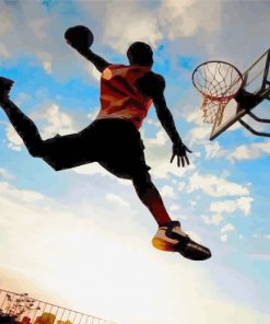 Basketball Player Silhouette Paint by numbers