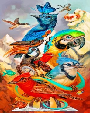 Birds Art Paint by numbers