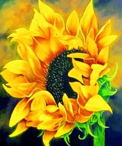 Blooming Sunflower Paint by numbers
