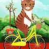 Cat On Bicycle Paint by numbers