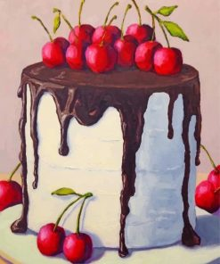 Cherry Chocolate Cake Paint by numbers