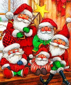 Christmas Santa Paint by numbers
