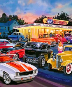 Classic Cars Paint by numbers