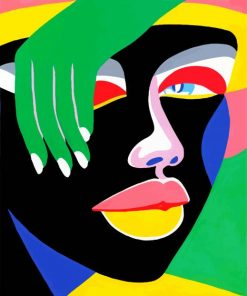 Colorful Abstract Face Paint by numbers