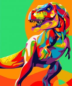 Colorful Dinosaur Paint by numbers