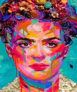 Colorful Frida Art Paint by numbers