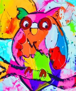 Colorful Owl Art Paint by numbers