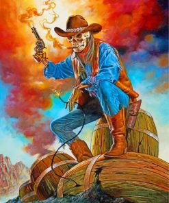 Cowboy Skull Paint by numbers