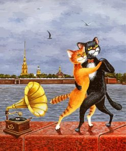 Dancing Cats Paint by numbers