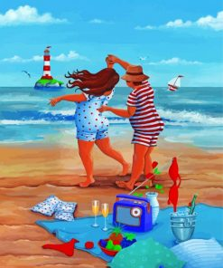 Dancing in beach paint by numbers