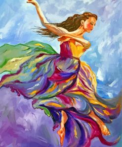 Dancing Woman Art Paint by numbers