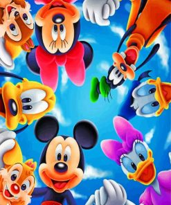 Disney Friends Paint by numbers