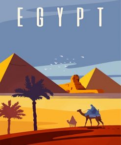 Egypt Pyramids Paint by numbers