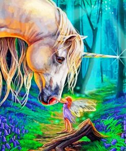 Fairy And Unicorn Paint by numbers