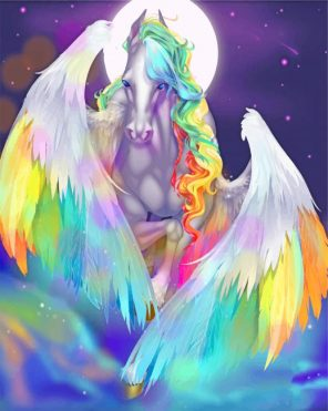 Fantasy Colorful Horse Paint by numbers