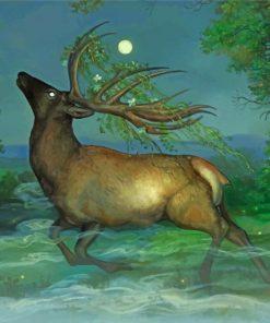 Fantasy Elk Paint by number