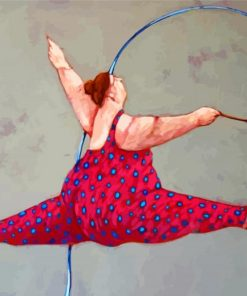 Fat Ballerina Paint by numbers