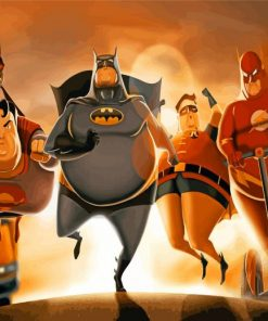 Fat Superheroes Paint by numbers