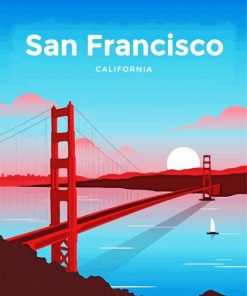 Golden Gate Bridge Paint by numbers