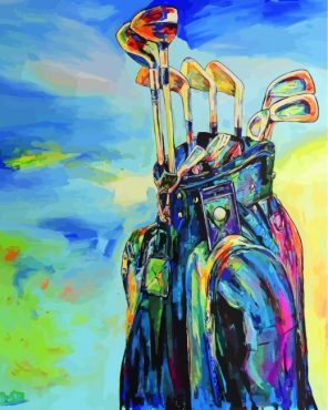Golf Bag paint by numbers