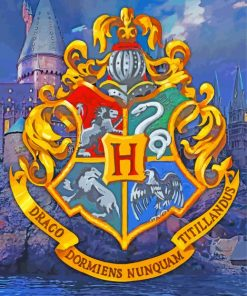 Harry Potter Hogwarts Logo Paint by numbers