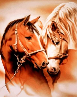 Horse Couple Paint by numbers