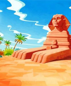 Illustration Egypt Paint by numbers