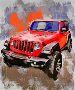 Jeep Wrangler Art Paint by numbers