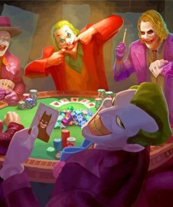 Joker Playing Poker Paint by numbers