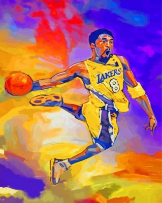 Lakers Player Paint by numbers