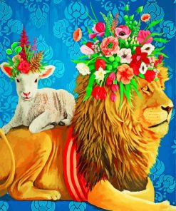 Lion And Lamb Paint by numbers