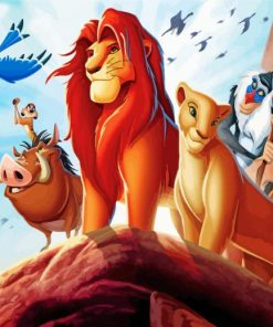 Lion King Movie Paint by numbers