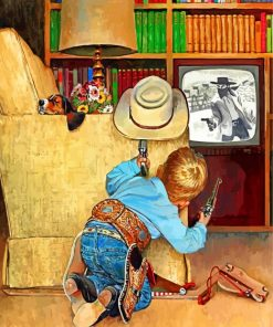 Little Cowboy Paint by numbers