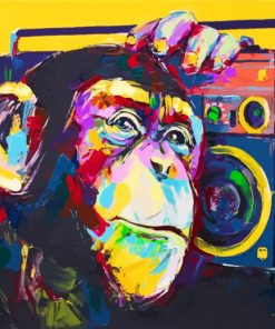 Monkey Art Paint by numbers