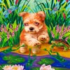Morkie Dog Paint by numbers