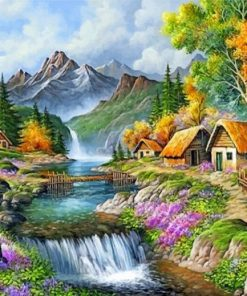 Mountain-Waterfall-Beautiful-Valley-paint-by-number